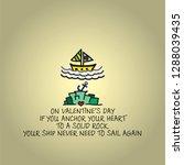 a sail boat over an anchor... | Shutterstock .eps vector #1288039435