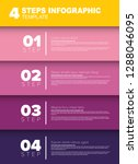 one two three four   vector...   Shutterstock .eps vector #1288046095
