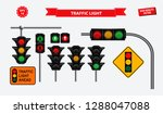 set of realistic traffic light. ... | Shutterstock .eps vector #1288047088