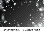realistic snow background.... | Shutterstock .eps vector #1288057555