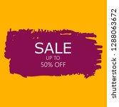 sale 50  off sign over art pink ... | Shutterstock .eps vector #1288063672