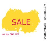 sale 50  off sign over art... | Shutterstock .eps vector #1288063675