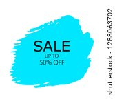 sale 50  off sign over art... | Shutterstock .eps vector #1288063702