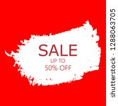 sale 50  off sign over art... | Shutterstock .eps vector #1288063705
