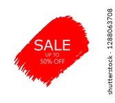 sale 50  off sign over art red... | Shutterstock .eps vector #1288063708