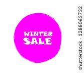winter sale sign over art pink... | Shutterstock .eps vector #1288063732