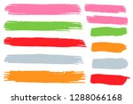 collection of hand drawn... | Shutterstock .eps vector #1288066168