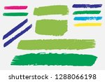 collection of hand drawn... | Shutterstock .eps vector #1288066198