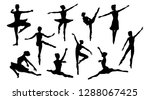 silhouettes of a ballet dancer... | Shutterstock .eps vector #1288067425