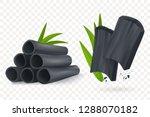 bamboo charcoal vector... | Shutterstock .eps vector #1288070182