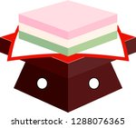 three color diamond shaped rice ... | Shutterstock .eps vector #1288076365