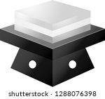 monochrome gradation three... | Shutterstock .eps vector #1288076398
