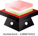gradation three color diamond... | Shutterstock .eps vector #1288076422
