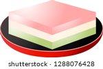 gradation three color diamond... | Shutterstock .eps vector #1288076428