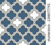 vector moroccan repeat seamless ...   Shutterstock .eps vector #1288077742