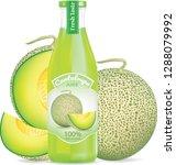 cantaloupe juice bottle... | Shutterstock .eps vector #1288079992