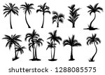 set of palm trees. collection... | Shutterstock .eps vector #1288085575