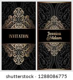 black and gold luxury wedding... | Shutterstock .eps vector #1288086775
