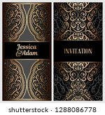 black and gold luxury wedding... | Shutterstock .eps vector #1288086778
