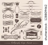 decorative shapes for wedding... | Shutterstock .eps vector #128809462