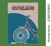 bicycle advertising poster... | Shutterstock .eps vector #1288100842
