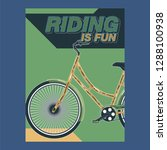 bicycle advertising poster... | Shutterstock .eps vector #1288100938
