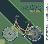 bicycle. advertising poster.... | Shutterstock .eps vector #1288103278