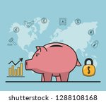 finance and trading cartoon | Shutterstock .eps vector #1288108168