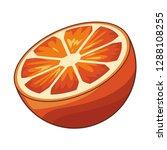 orange isolated icon | Shutterstock .eps vector #1288108255