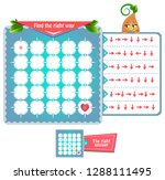 educational game for kids and... | Shutterstock .eps vector #1288111495