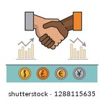 finance and trading cartoon | Shutterstock .eps vector #1288115635