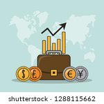 finance and trading cartoon | Shutterstock .eps vector #1288115662