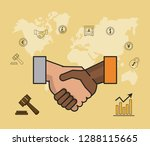 finance and trading cartoon | Shutterstock .eps vector #1288115665