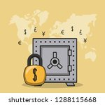 finance and trading cartoon | Shutterstock .eps vector #1288115668