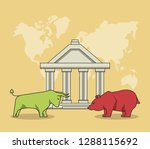 finance and trading cartoon | Shutterstock .eps vector #1288115692