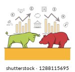 finance and trading cartoon | Shutterstock .eps vector #1288115695