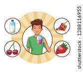 man healthy food | Shutterstock .eps vector #1288116955