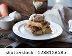 pine nuts on a light wooden...   Shutterstock . vector #1288126585