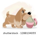 vector illustration of dog with ... | Shutterstock .eps vector #1288134055