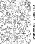 vector illustration of sweet... | Shutterstock .eps vector #128814415