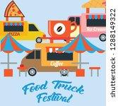 food truck festival banner and... | Shutterstock .eps vector #1288149322