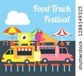 food truck festival banner and... | Shutterstock .eps vector #1288149325