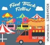 food truck festival banner and... | Shutterstock .eps vector #1288149328