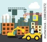 under construction building... | Shutterstock .eps vector #1288154272