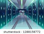 vector cartoon corridor in a... | Shutterstock .eps vector #1288158772
