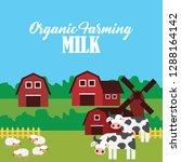 farm fresh organic foods.... | Shutterstock .eps vector #1288164142