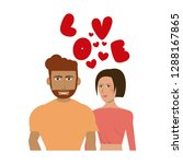 couple in love | Shutterstock .eps vector #1288167865