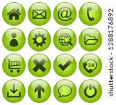 set of 16 web icons in round...   Shutterstock .eps vector #1288176892