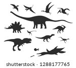 set of silhouettes of different ... | Shutterstock .eps vector #1288177765