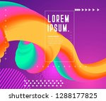 colorful geometric background.... | Shutterstock .eps vector #1288177825